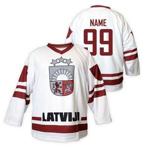 3f5142392b24b Hokejový dres Lotyšsko biely - Slovan Fanshop