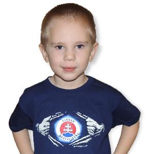 b076c05897cf7 ŠK Slovan - ŠK Slovan Bratislava detské modré tričko - Slovan Fanshop