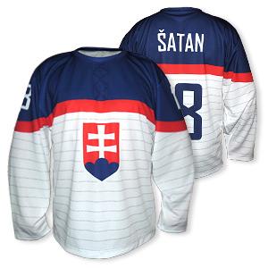 Slovakia white ice hockey jersey 2014 replica