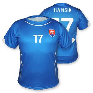 Slovakia blue football jersey 2014-15