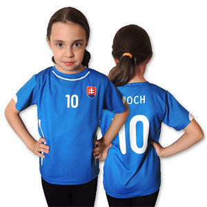 Slovakia blue football jersey 2014/15 for children