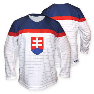 Slovakia authentic olympic hockey jersey white without name and number