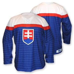 Slovakia authentic olympijský hokejový dres modrý bez mena a čísla