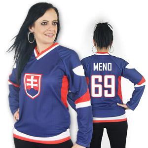 Slovakia hockey jersey blue for woman