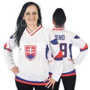 Slovakia hockey jersey white for woman