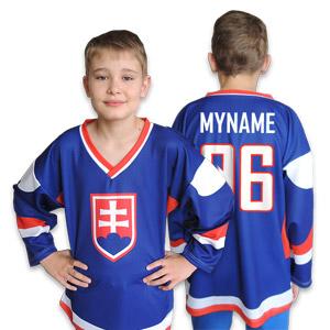 Slovakia blue hockey jersey junior