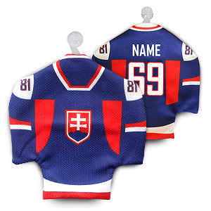 Slovakia blue hockey minijersey with your name and number
