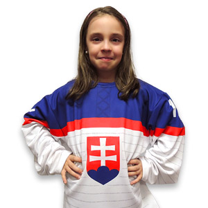 Slovakia white hockey jersey 2014/15 junior
