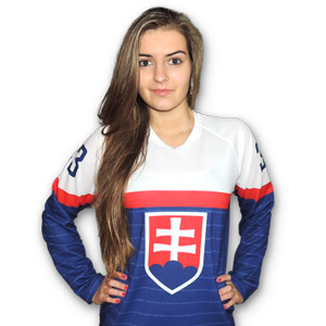 Slovakia blue ice hockey jersey 2014 for woman