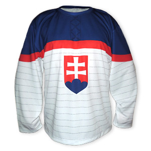 Slovakia white ice hockey jersey 2014 replika without name and number