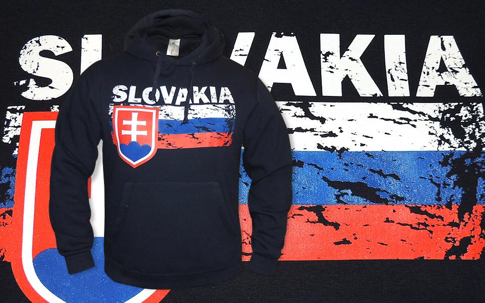 Blue hoodie Slovakia football team c676eff5048